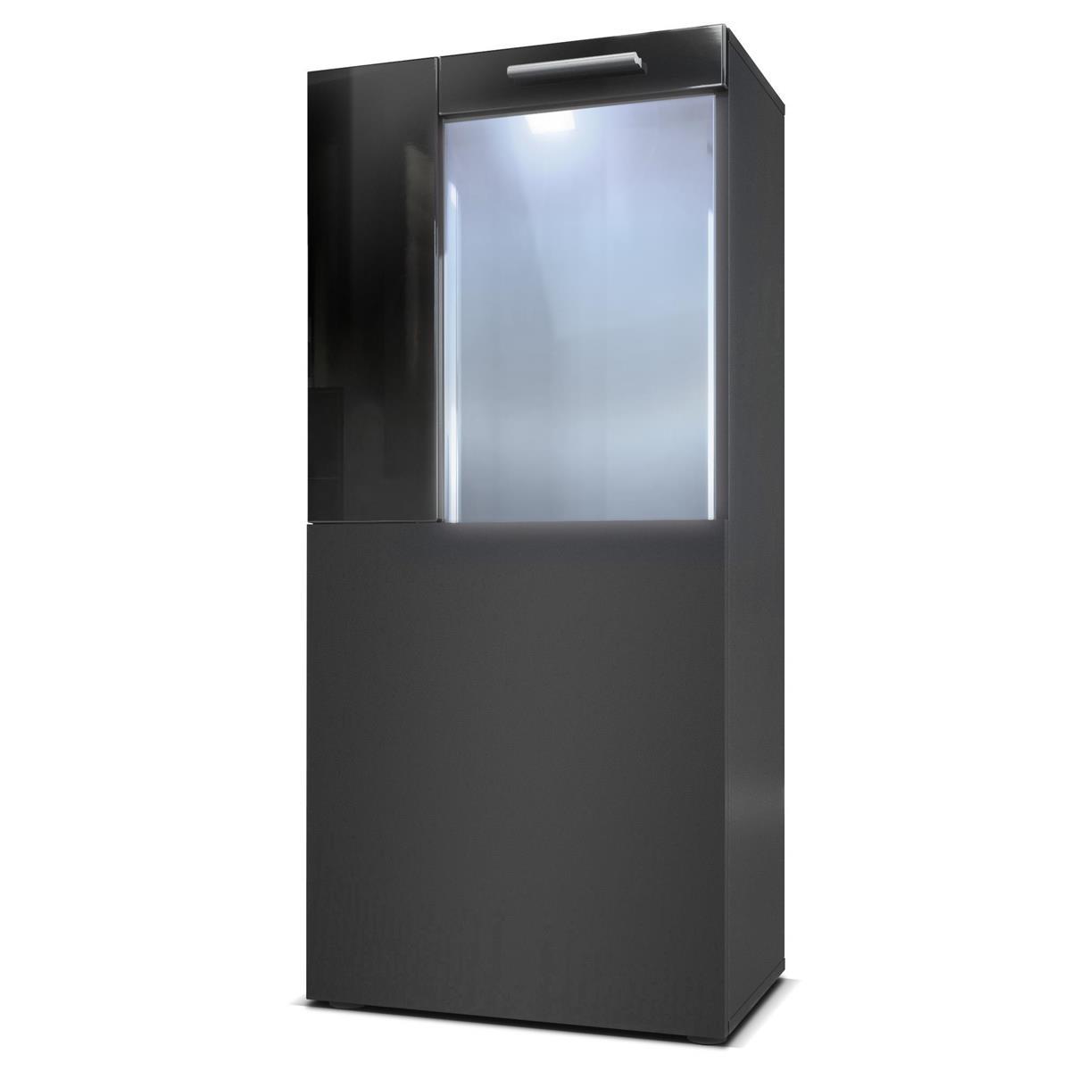vitrine standvitrine h ngevitrine highboard hochschrank movie schwarz hochglanz ebay. Black Bedroom Furniture Sets. Home Design Ideas