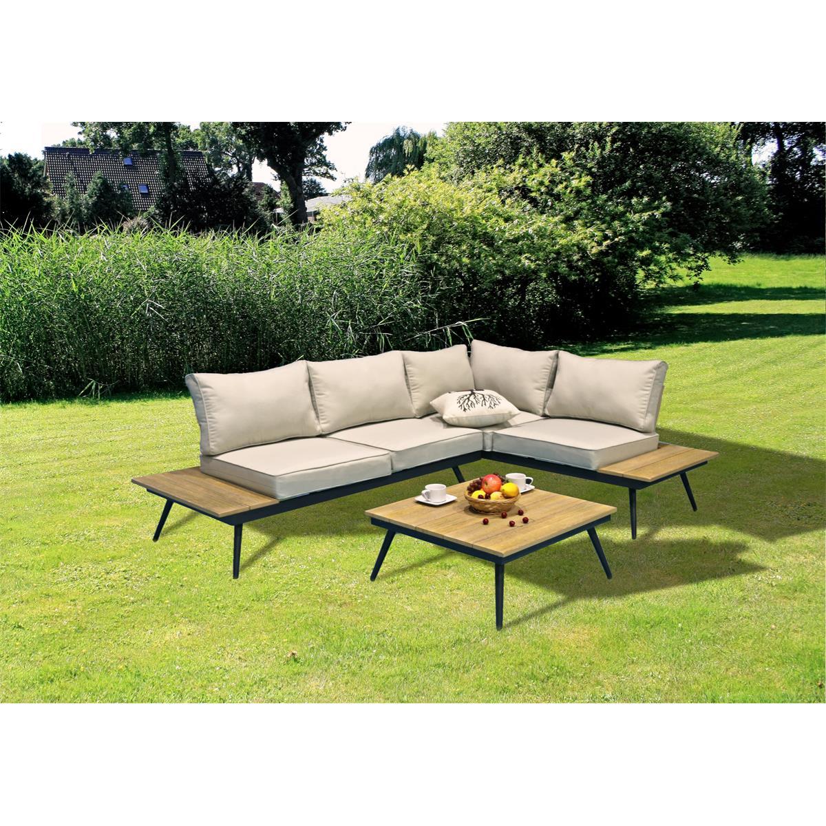 garten lounge set riba terasse balkon vladon m bel. Black Bedroom Furniture Sets. Home Design Ideas
