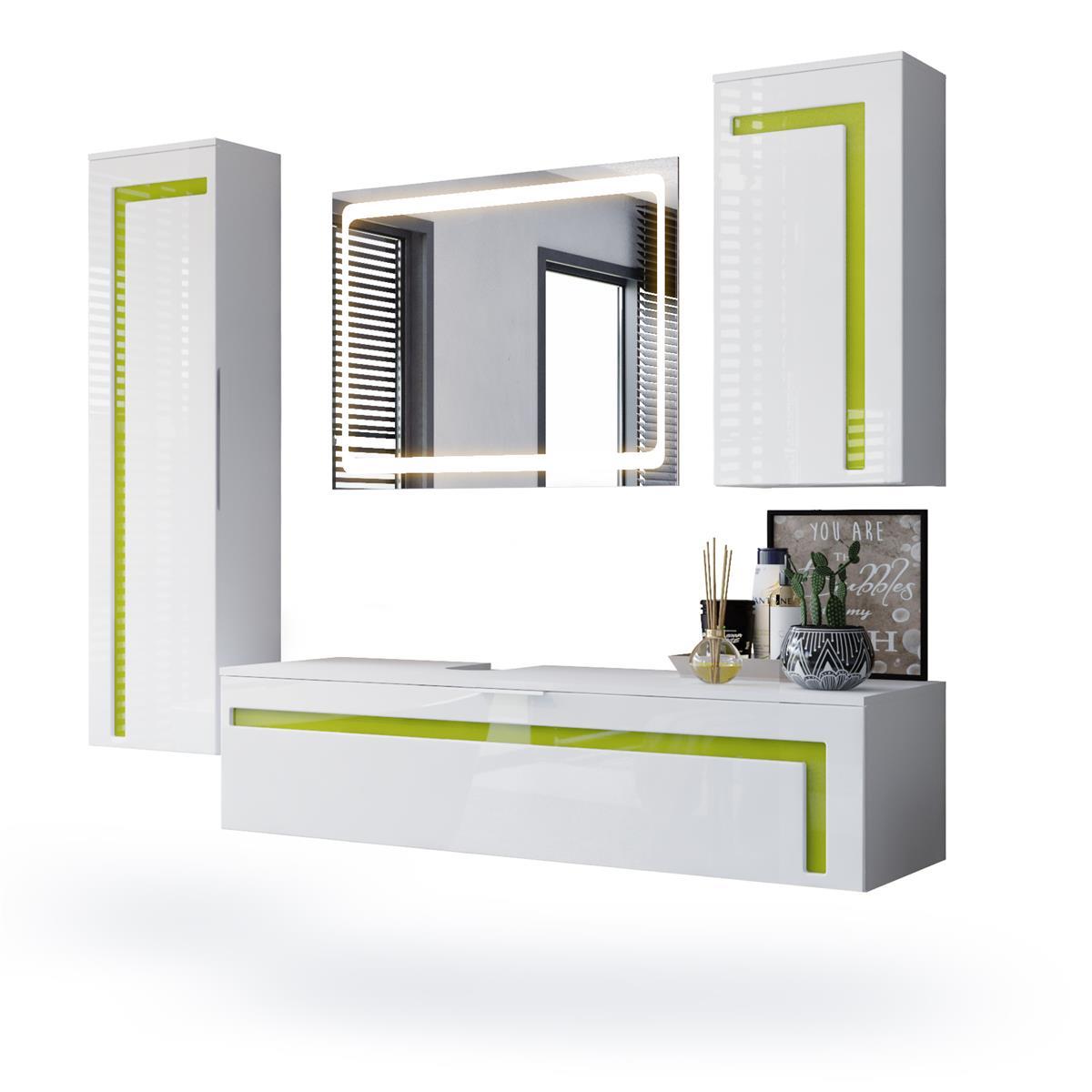 Badmöbel Badezimmer Aloha | Komplett-Set | Vladon Möbel
