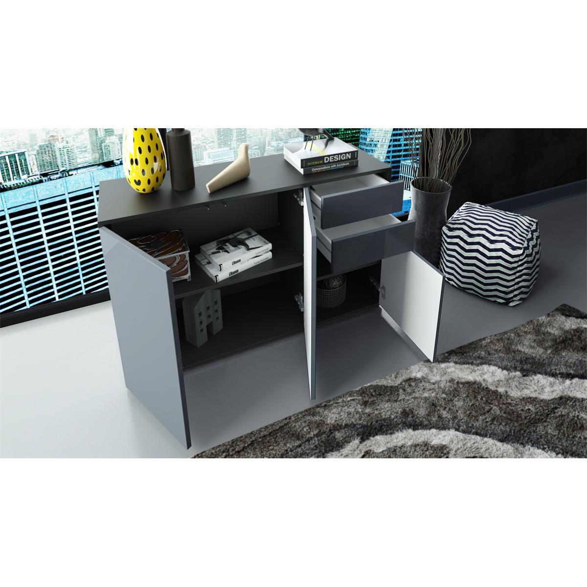 Kommode schwarz matt  Ben V3 Kommode mit Türen und Schubkästen in matt oder Hochglanz