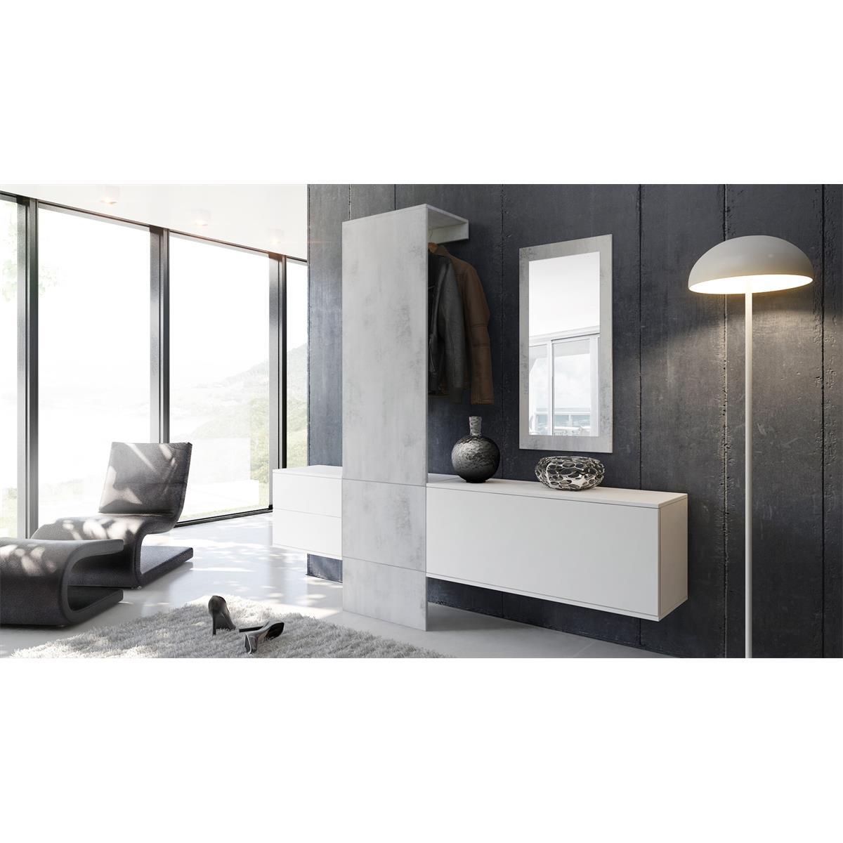 Garderobe carlton set 1 beton oxid spiegel beton for Garderobe carlton