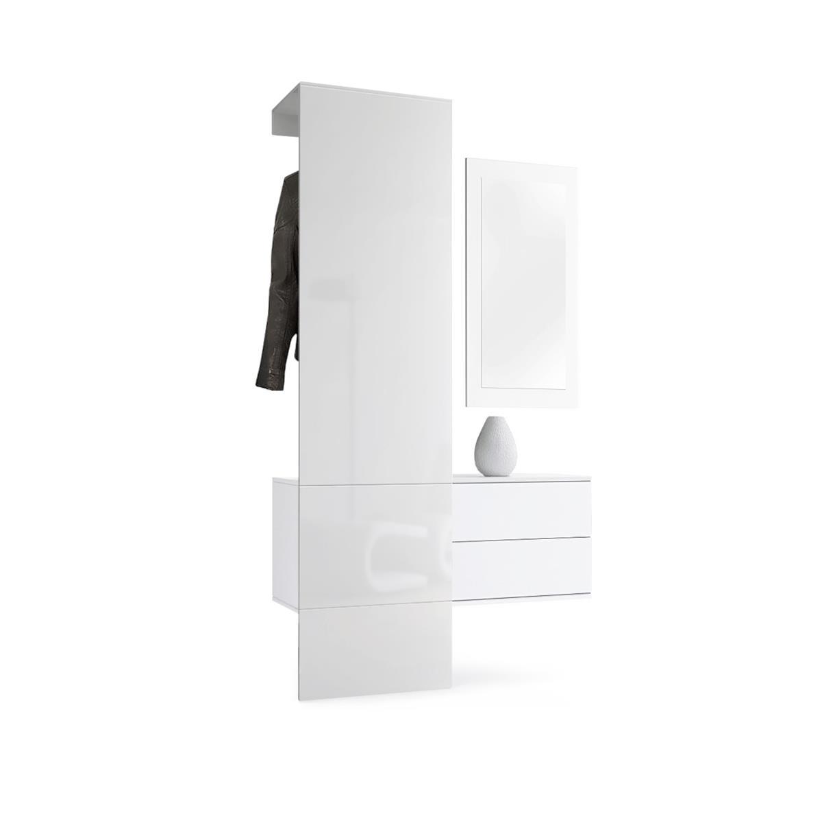 garderobe carlton set 2 inkl spiegel inkl schubladen vladon m bel. Black Bedroom Furniture Sets. Home Design Ideas