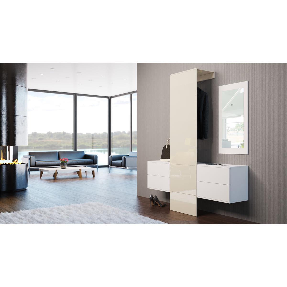garderobe carlton set 3 inkl spiegel variable module. Black Bedroom Furniture Sets. Home Design Ideas