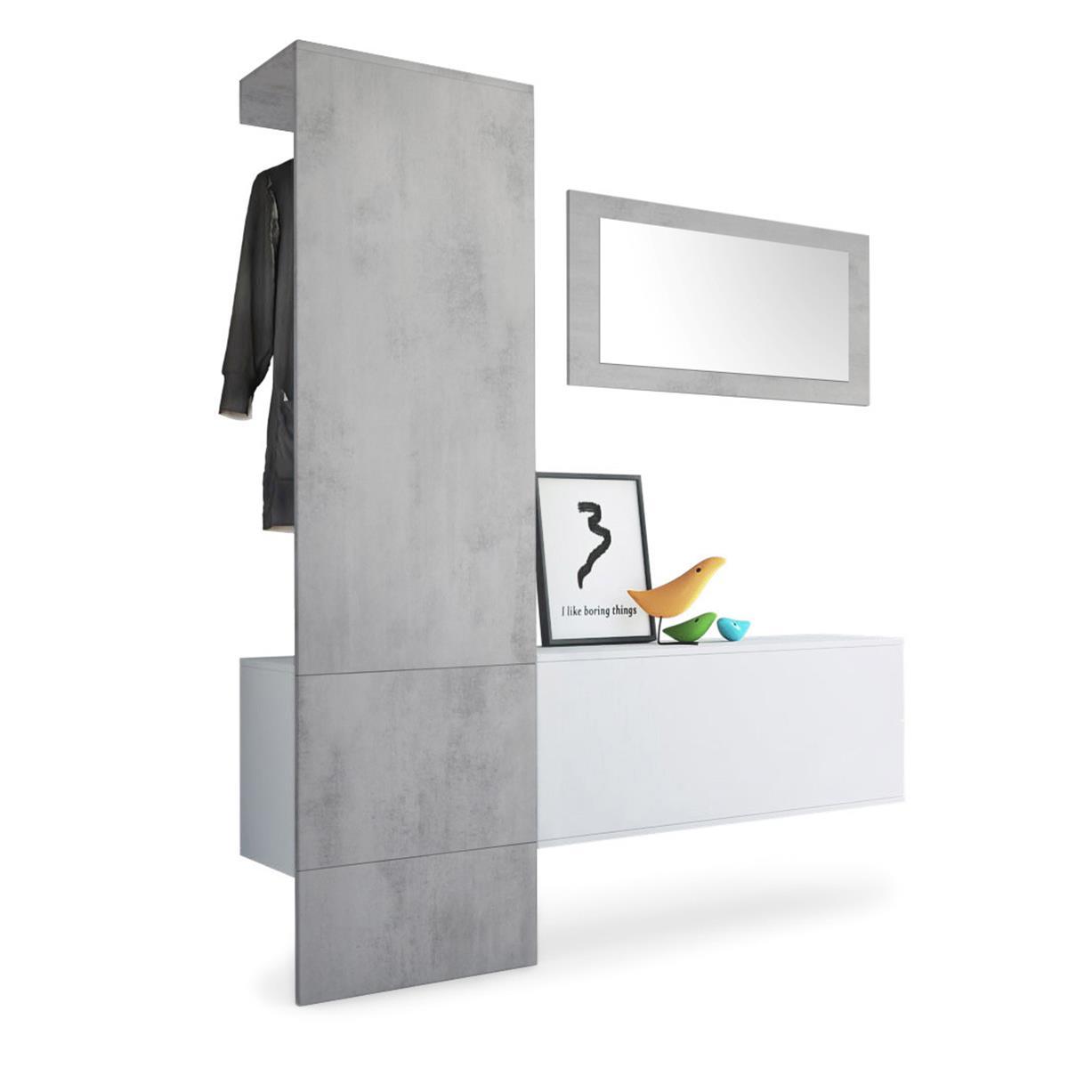 Verzauberkunst Garderobe Bilder Sammlung Von Carlton Set 4 Beton Oxid, Spiegel Beton