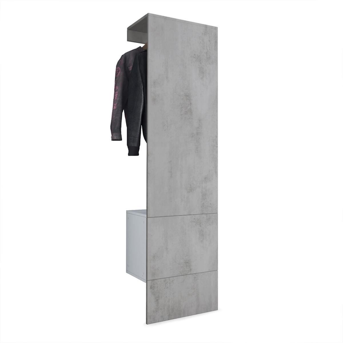 Garderobe carlton set 5 beton oxid optik for Garderobe carlton set 4