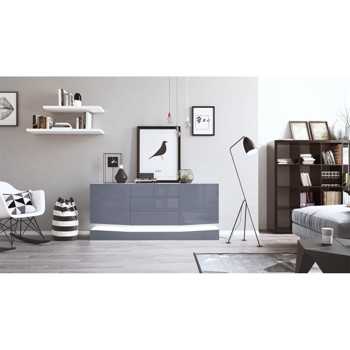 Verzauberkunst Sideboard Grau Weiß Galerie Von City City