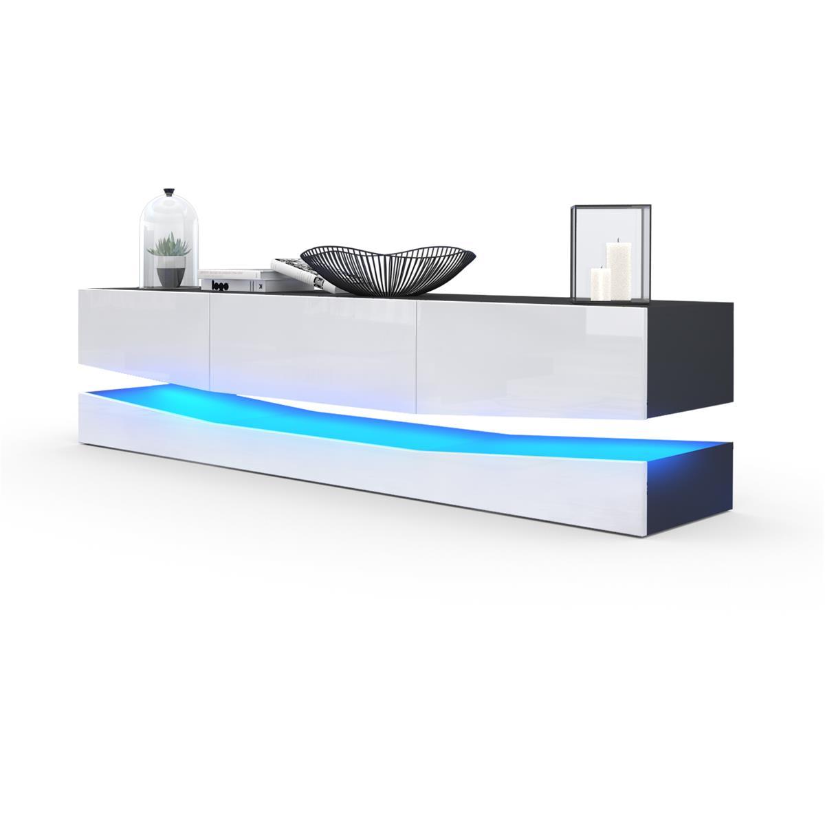 tv board city mit schubk sten und sockel led optional. Black Bedroom Furniture Sets. Home Design Ideas