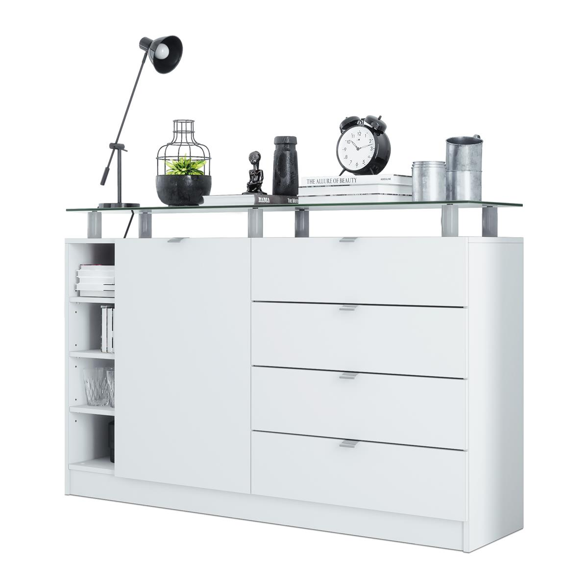 sideboard kommode schrank anrichte dolly wei. Black Bedroom Furniture Sets. Home Design Ideas