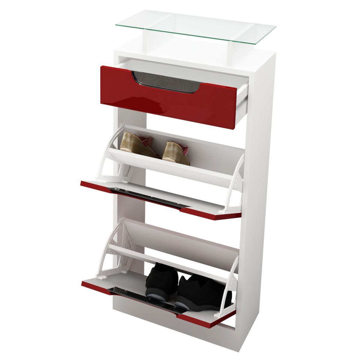 schuhkipper fiesta v2 mit farbigen absetzungen schublade. Black Bedroom Furniture Sets. Home Design Ideas