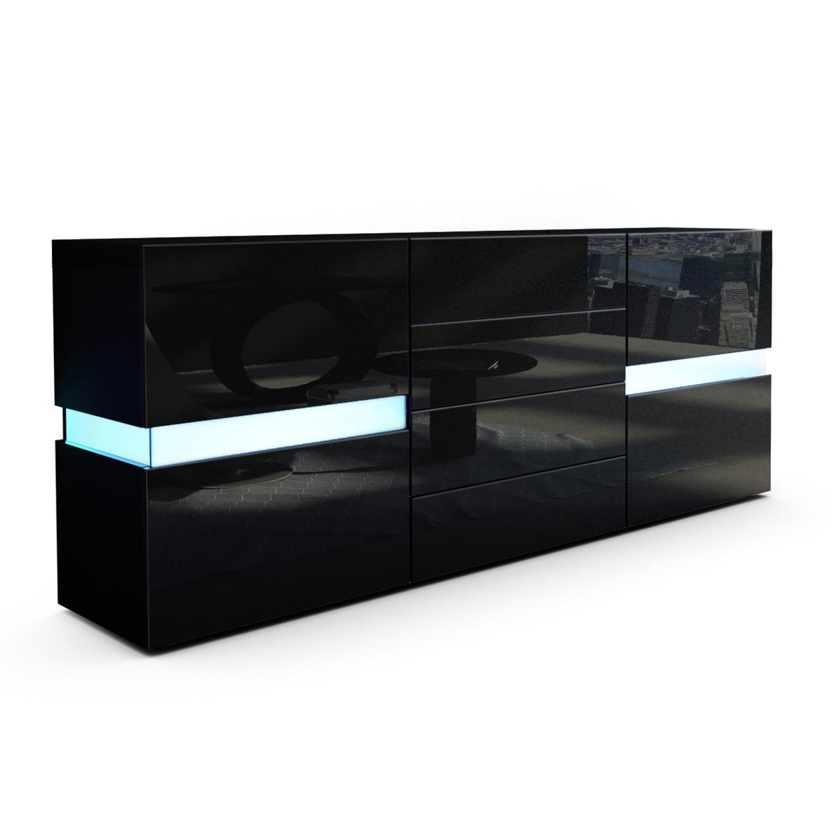 flow sideboard kommode mit ambient light und led. Black Bedroom Furniture Sets. Home Design Ideas