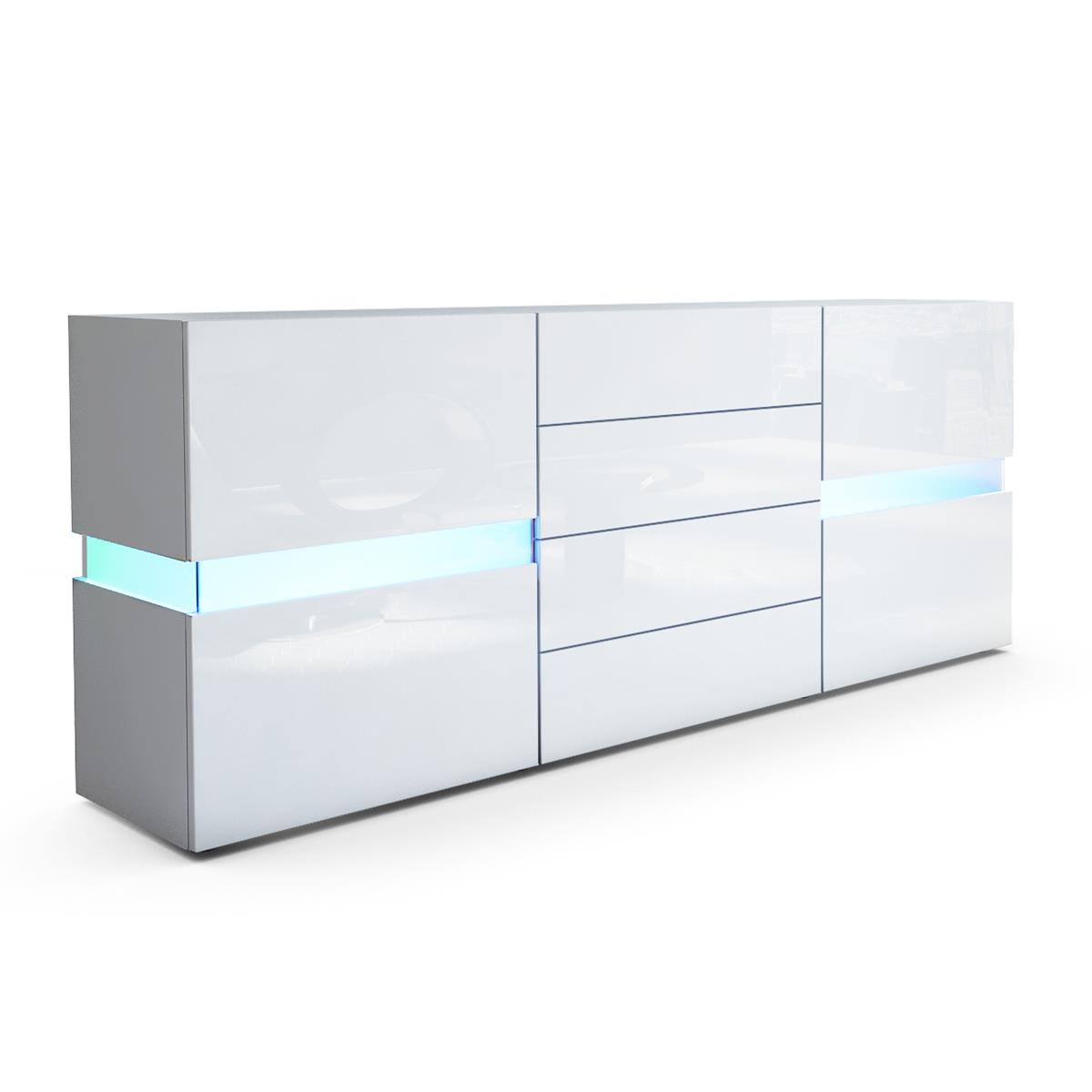 Flow sideboard kommode mit ambient light und led for Sideboard zela