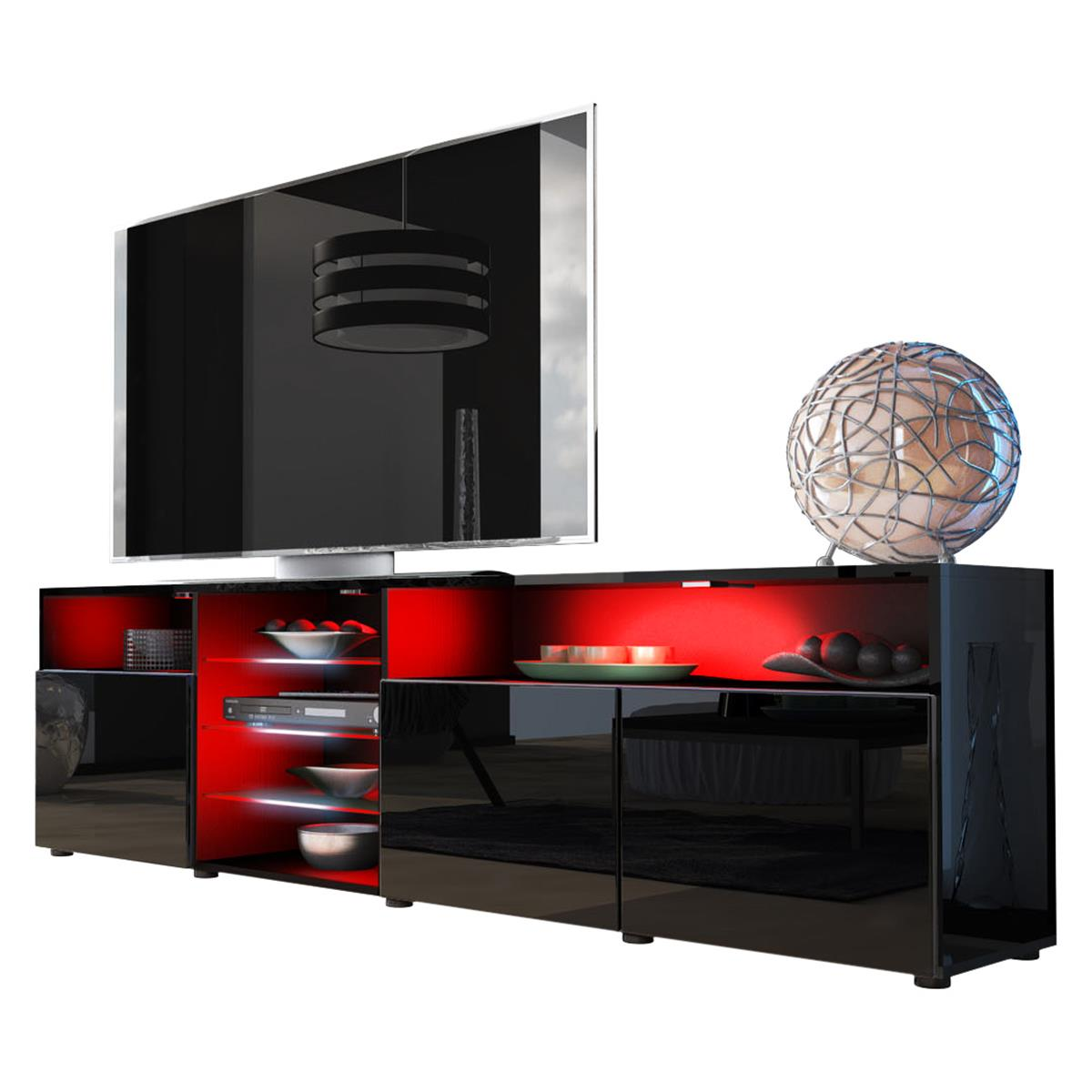 tv unterschrank granada v2 mit hifi f cher ablagen. Black Bedroom Furniture Sets. Home Design Ideas