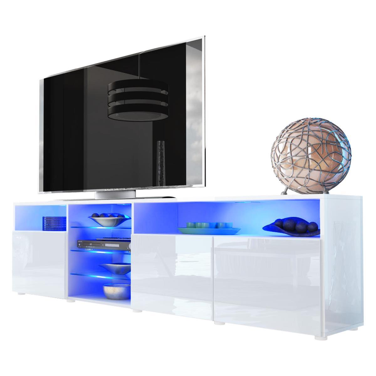 Tv board  TV Board Lima Nova V2: in Weiß Hochglanz mit LED