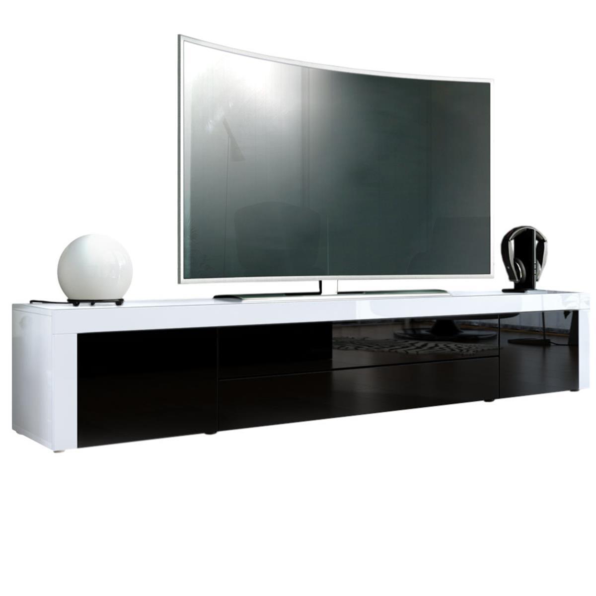 Tv lowboard schwarz matt  TV Unterschrank La Paz: Lowboard mit Hochglanz-Absetzung