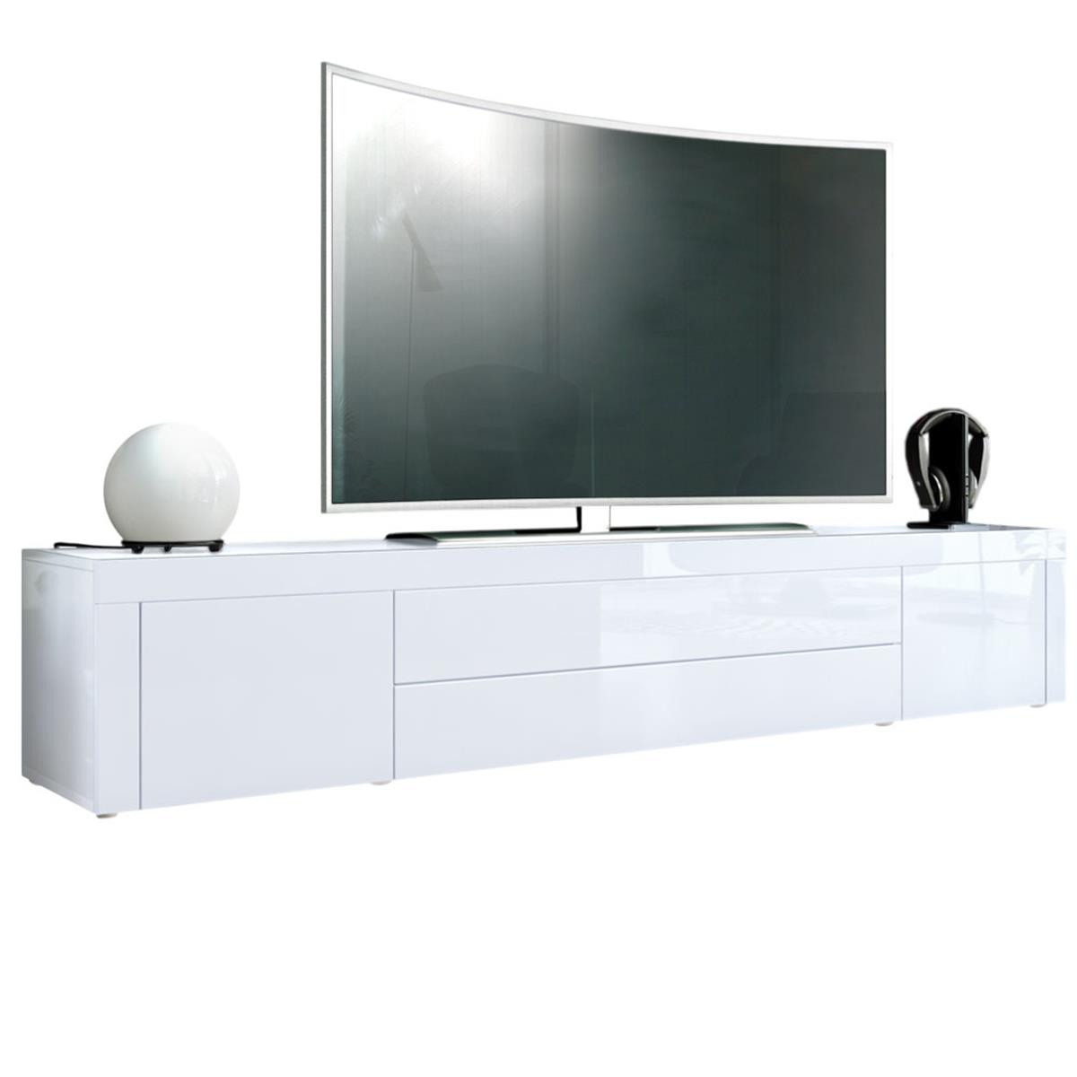 tv sideboard wei hochglanz. Black Bedroom Furniture Sets. Home Design Ideas