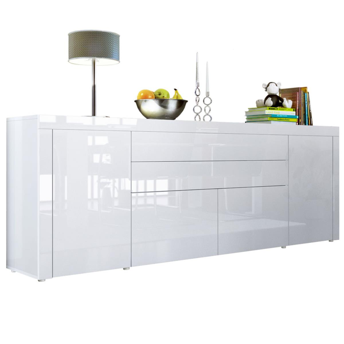 chest of drawers white high gloss la paz v2 mit. Black Bedroom Furniture Sets. Home Design Ideas