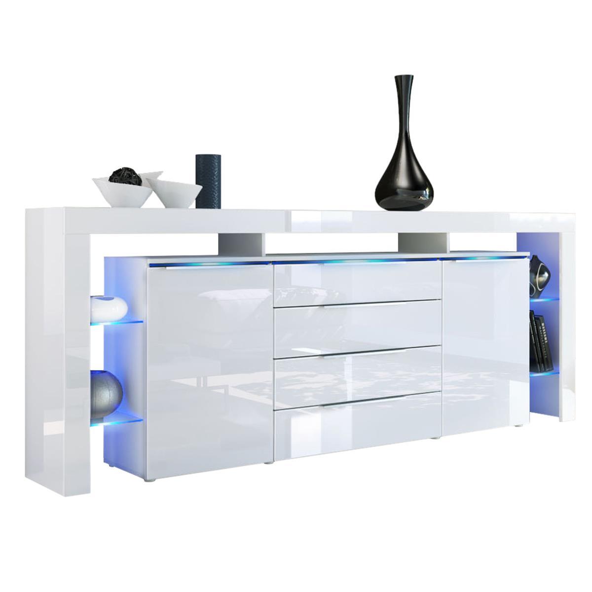 Sideboard Lima Nova V2 mit Regalaufbau & Glaselemente