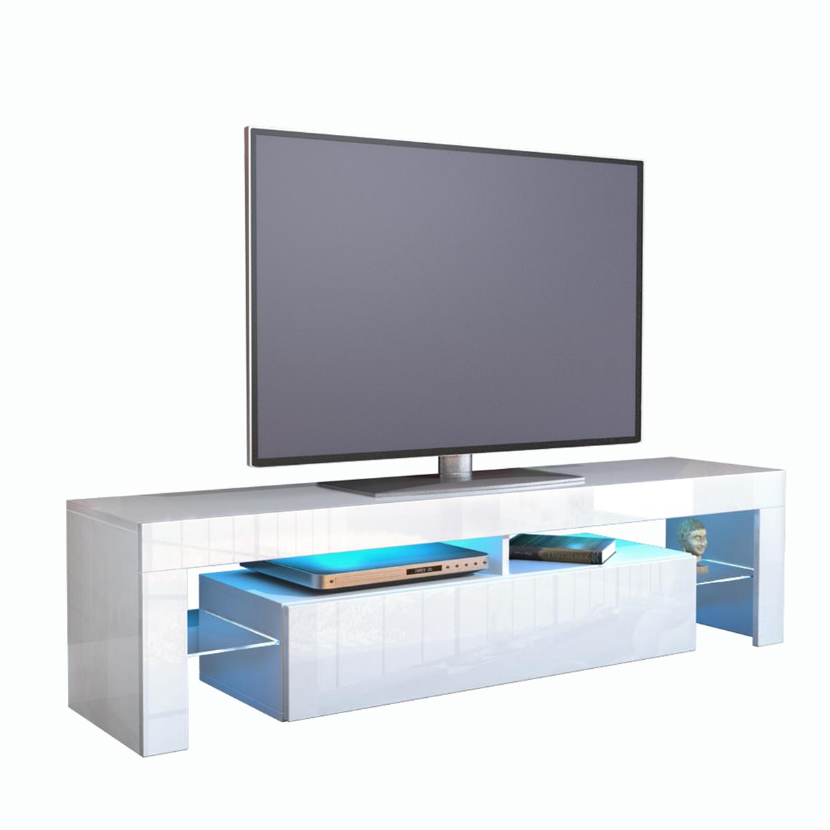 tv board lima in schwebe optik mit beleuchteten glas. Black Bedroom Furniture Sets. Home Design Ideas
