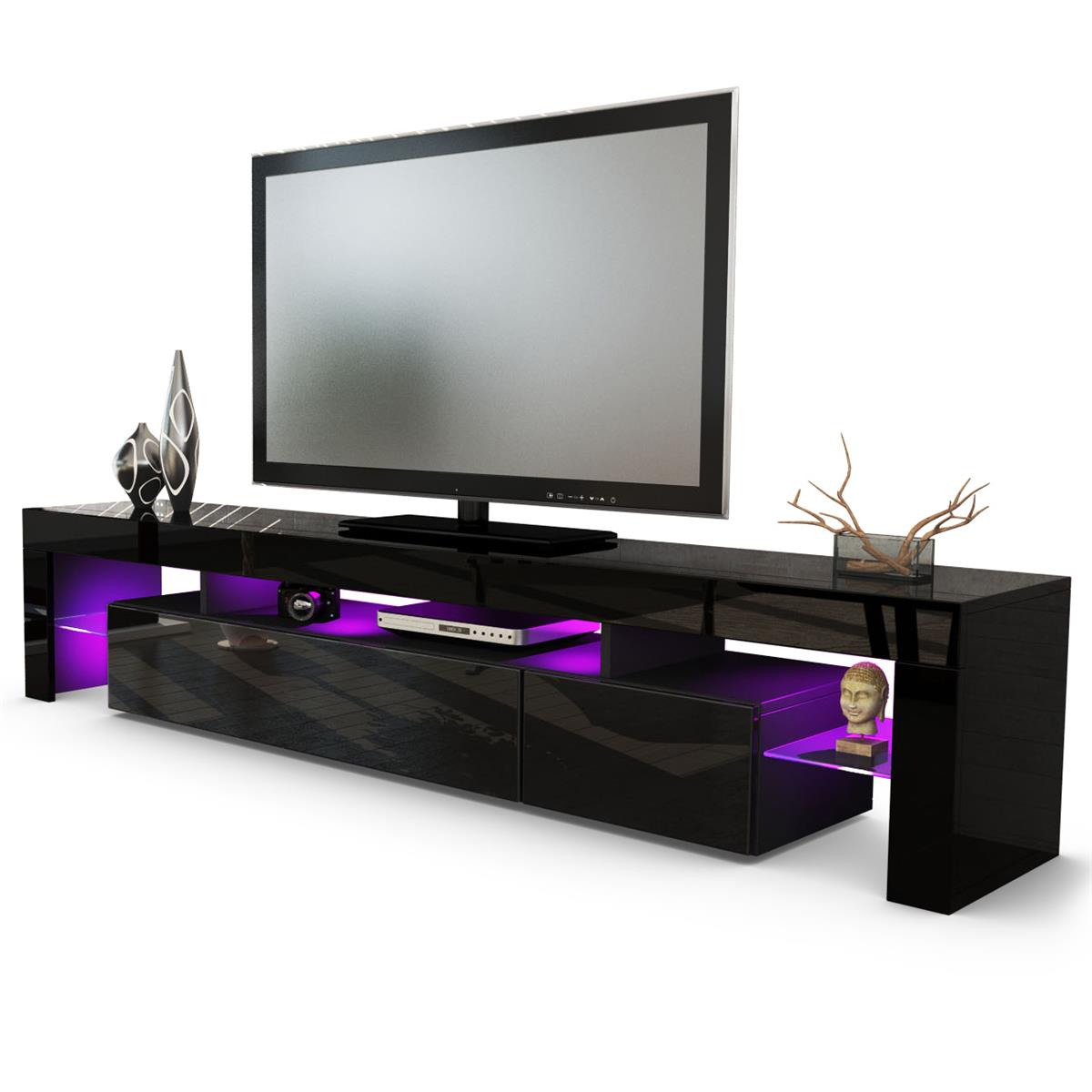 tv board lima v2 mit ablagen stauraum hinter 2 klappen. Black Bedroom Furniture Sets. Home Design Ideas