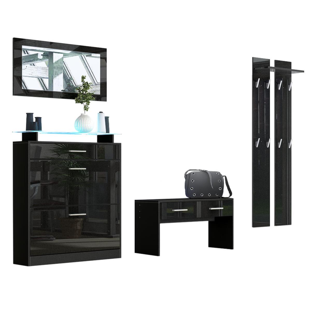 garderoben kombination loret praktische m bel f r ihren flur. Black Bedroom Furniture Sets. Home Design Ideas