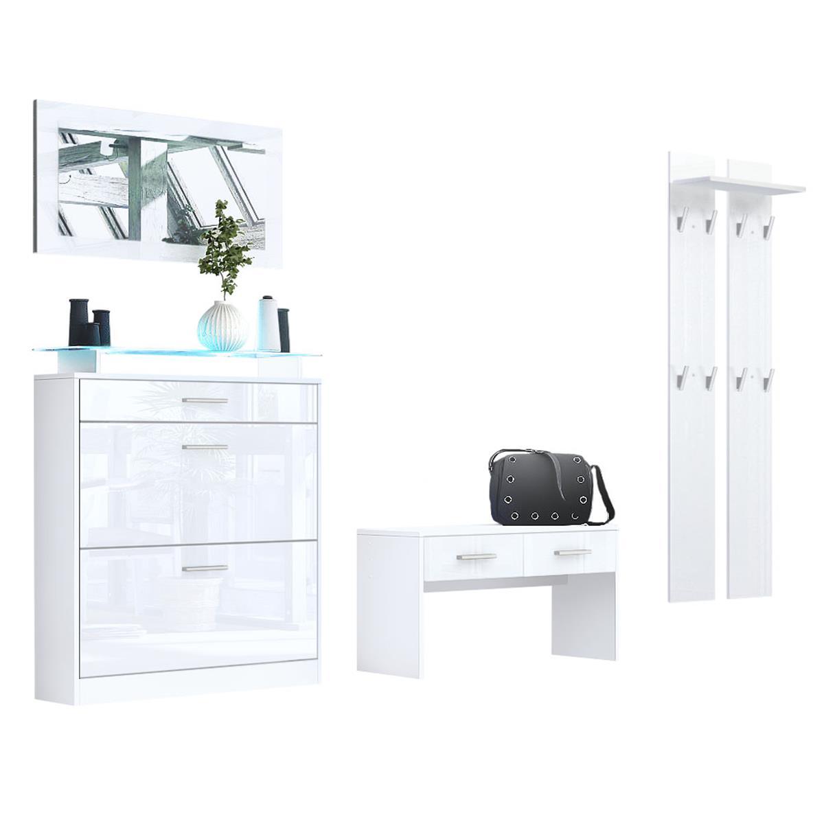garderoben kombination loret praktische m bel f r ihren flur. Black Bedroom Furniture Sets. Home Design Ideas