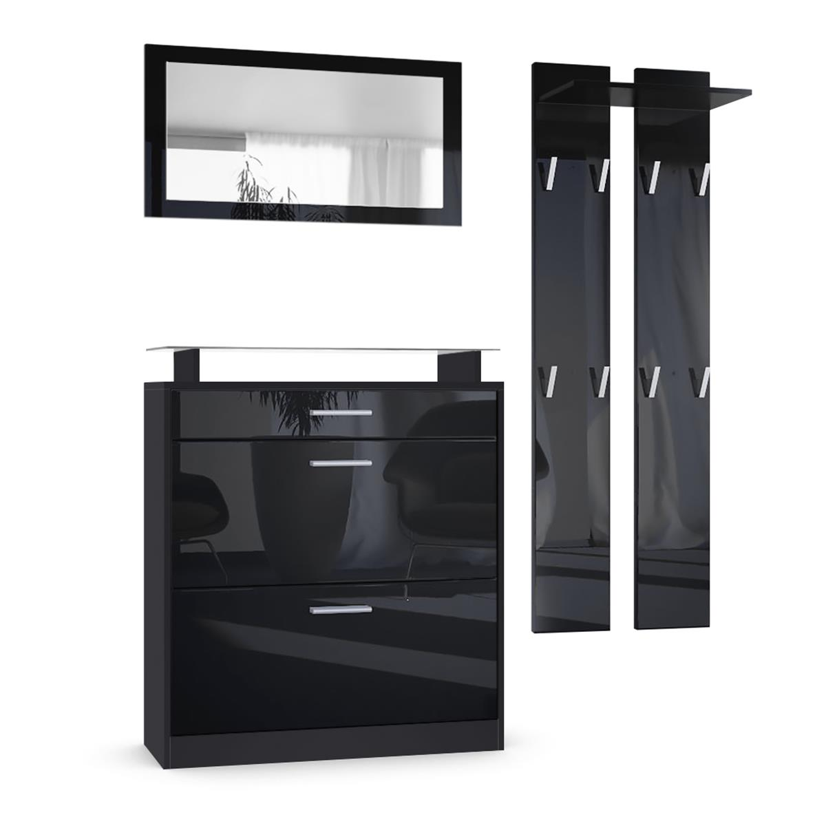 garderoben set schwarz my blog. Black Bedroom Furniture Sets. Home Design Ideas