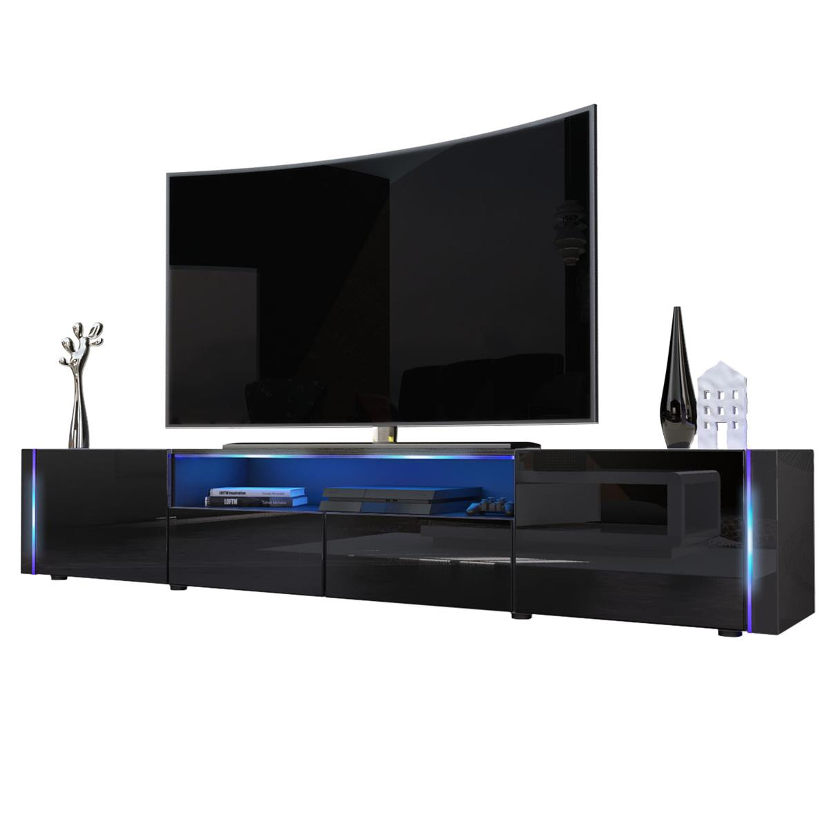 tv board schwarz hochglanz amazing tvlowboard breite cm. Black Bedroom Furniture Sets. Home Design Ideas