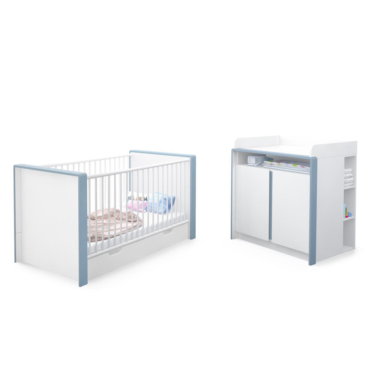Babyzimmer weiß hochglanz  Babyzimmer Kinderzimmer Babymöbel Komplettset Nandini