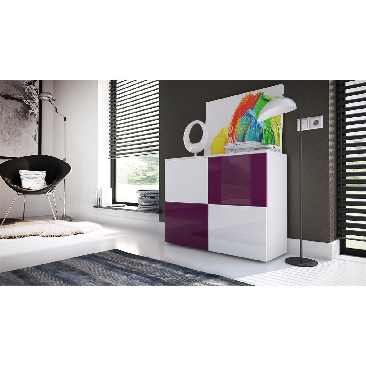 Kommode brombeer weis thewall kommode celle ii eiche - Schlafzimmer brombeer ...