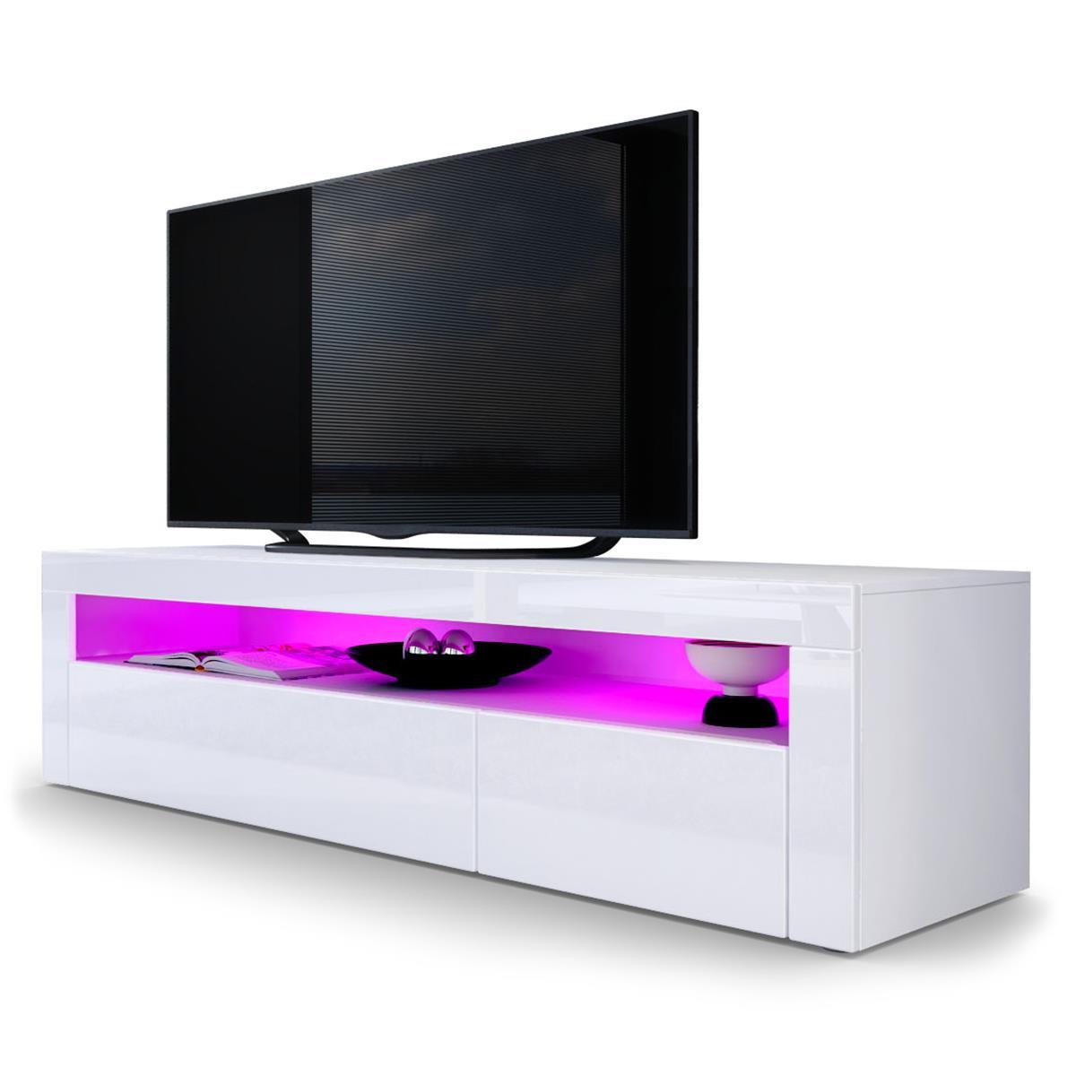 valencia lowboard 2 klappen und ger tefach f r hifizubeh r. Black Bedroom Furniture Sets. Home Design Ideas