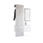 Garderobe Carlton Set 2 Beton Oxid, Spiegel Beton