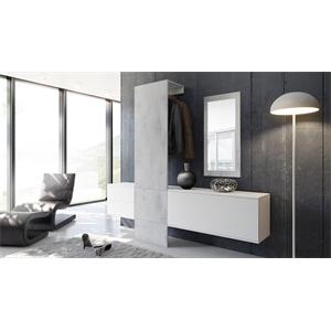Garderobe Carlton Set 1 Beton Oxid, Spiegel Beton