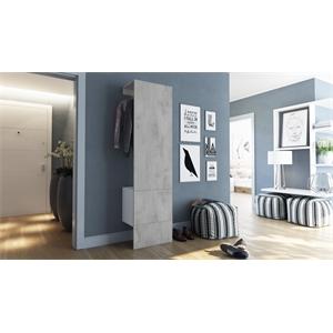 Garderobe Carlton Set 5 Beton Oxid Optik