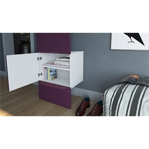 Garderobe Carlton Set 5 Beton Oxid Optik