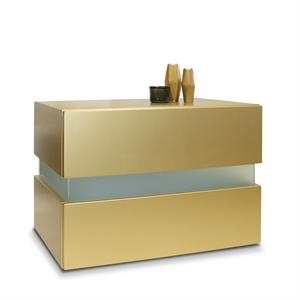 Nachttisch Flow Gold