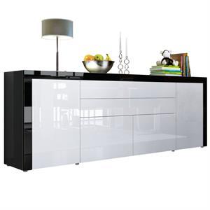 kommode in wei hochglanz f r den flur g nstig bestellen. Black Bedroom Furniture Sets. Home Design Ideas