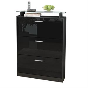 hochglanz schuhschrank wei online bestellen. Black Bedroom Furniture Sets. Home Design Ideas