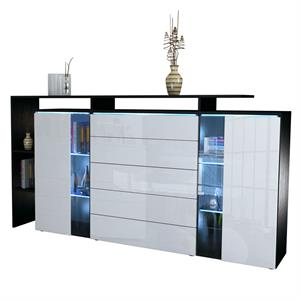 beschichtetes sideboard skadu mit offener ablage. Black Bedroom Furniture Sets. Home Design Ideas