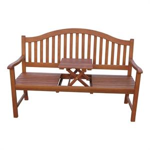 Gartenbank mit hochklappbarem Tisch