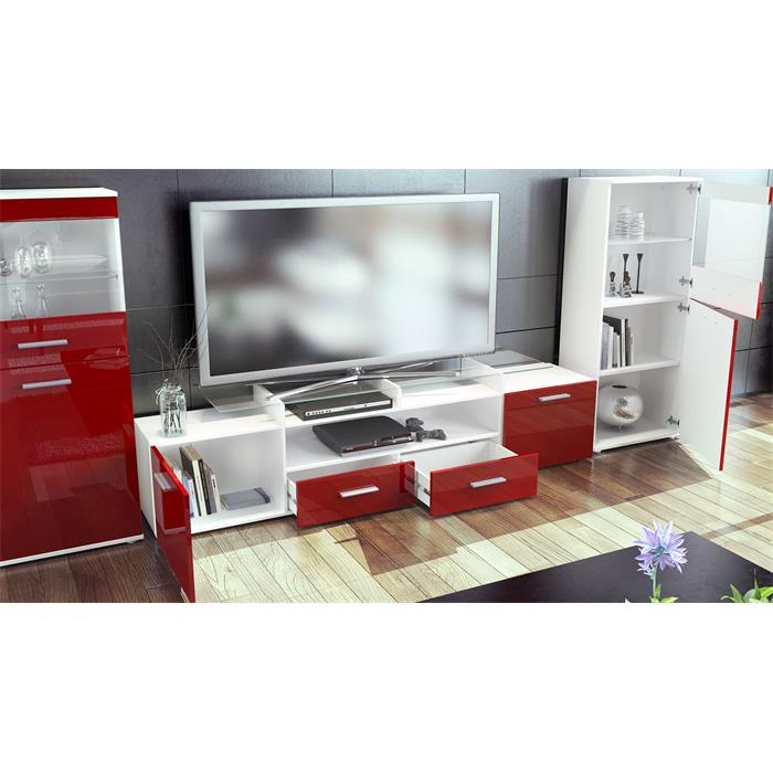 Wall Unit Living Room Furniture Almada V2 White