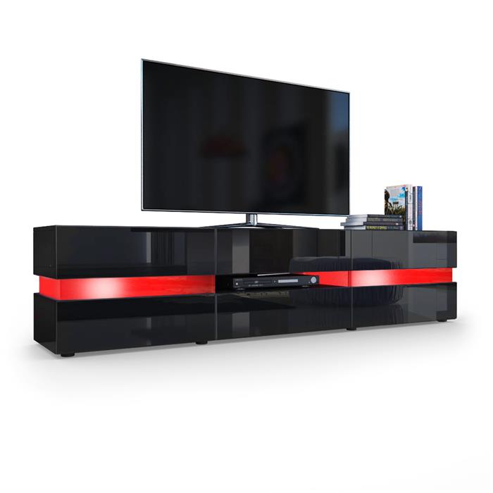 tv boards lowboards fernsehtisch in wei hochglanz kaufen. Black Bedroom Furniture Sets. Home Design Ideas
