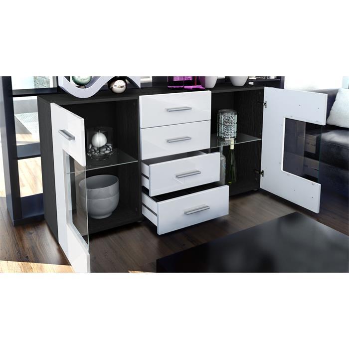 sideboard tv board anrichte kommode schrank m bel gr mitz schwarz hochglanz ebay. Black Bedroom Furniture Sets. Home Design Ideas