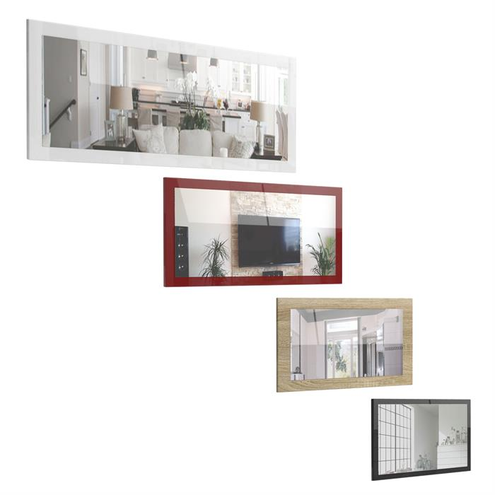 wandspiegel spiegel lima flur diele hochglanz naturfarben 3 gr en 16 farben ebay. Black Bedroom Furniture Sets. Home Design Ideas