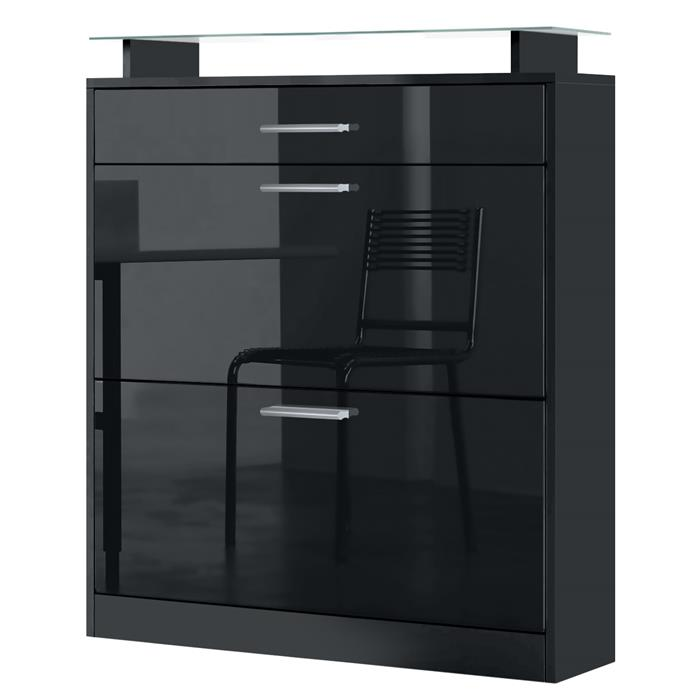 loret schuschrank mit 2 schuhkipper schublade f r 16 paar. Black Bedroom Furniture Sets. Home Design Ideas
