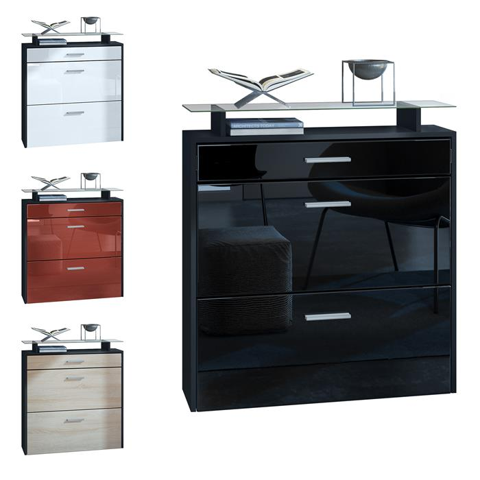 schuhschrank schuhkipper h nge flur schrank diele regal malea schwarz hochglanz ebay. Black Bedroom Furniture Sets. Home Design Ideas