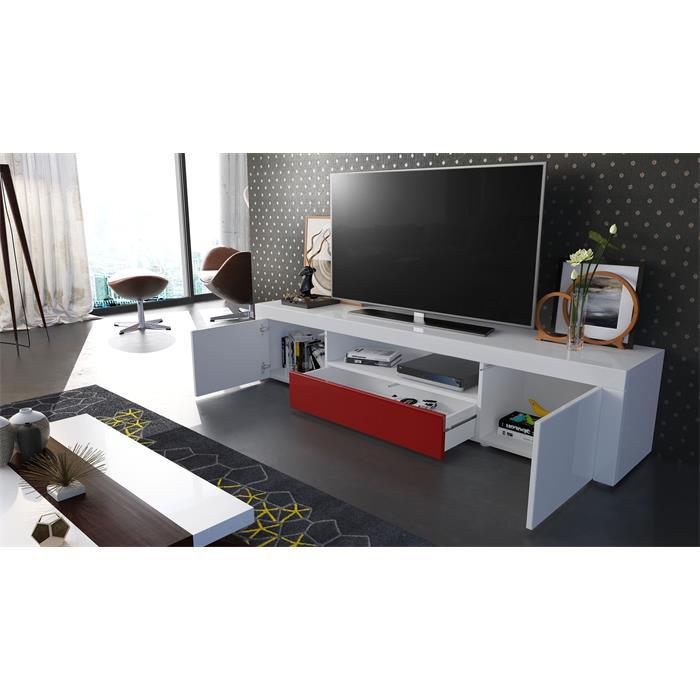 tv lowboard fernsehtisch board schrank 170cm kommode santiago wei hochglanz ebay. Black Bedroom Furniture Sets. Home Design Ideas