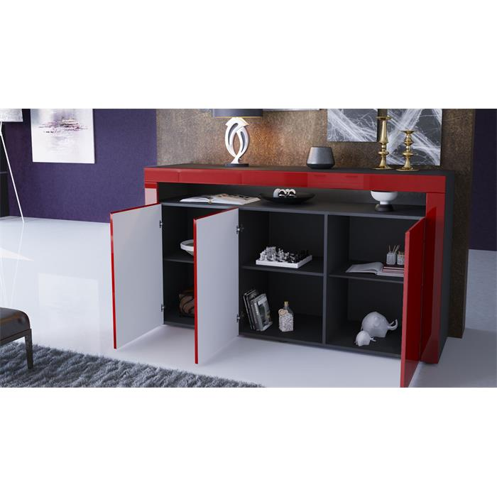 sideboard schwarz hochglanz amazing best sideboard kommode wei schwarz hochglanz mit. Black Bedroom Furniture Sets. Home Design Ideas
