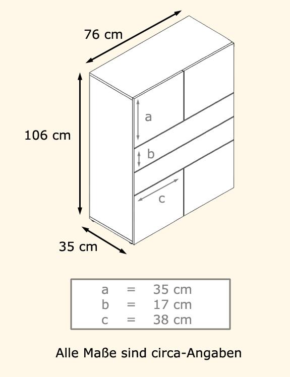 Schrank Jersey Kommode Weiß Sideboard : Details about Kommode Schrank Anrichte Sideboard Massa V2 in Weiß