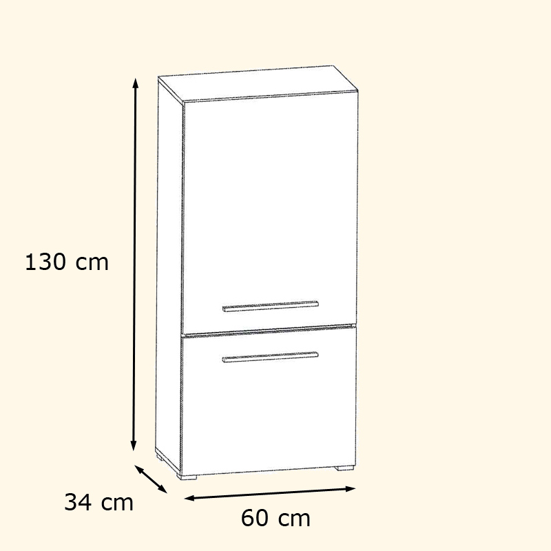 Wall unit living room furniture flash in white black for Schrank flach