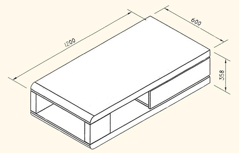 Couchtisch IDOL Wohnzimmertisch Tisch mit Drehfunktion in